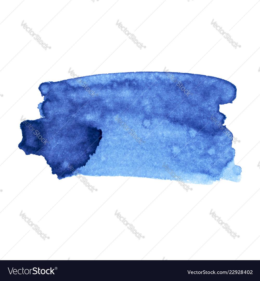 Paint stroke black ink blue ink