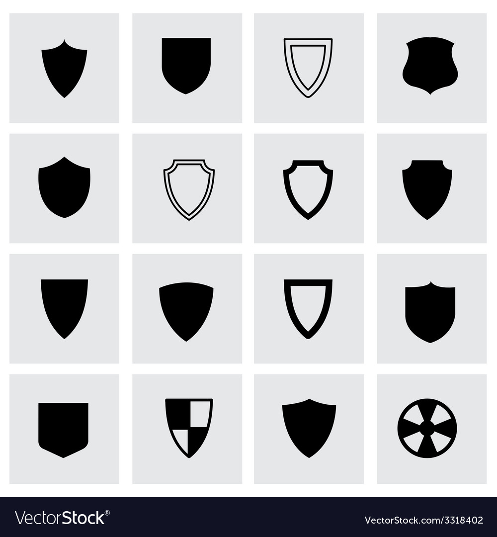 Shield icon set