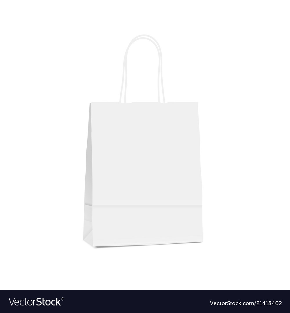 White empty shopping paper bag