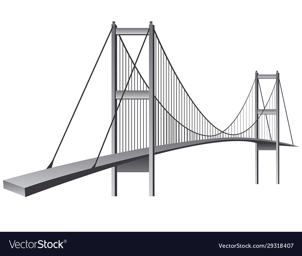 Bosporus bridge vector