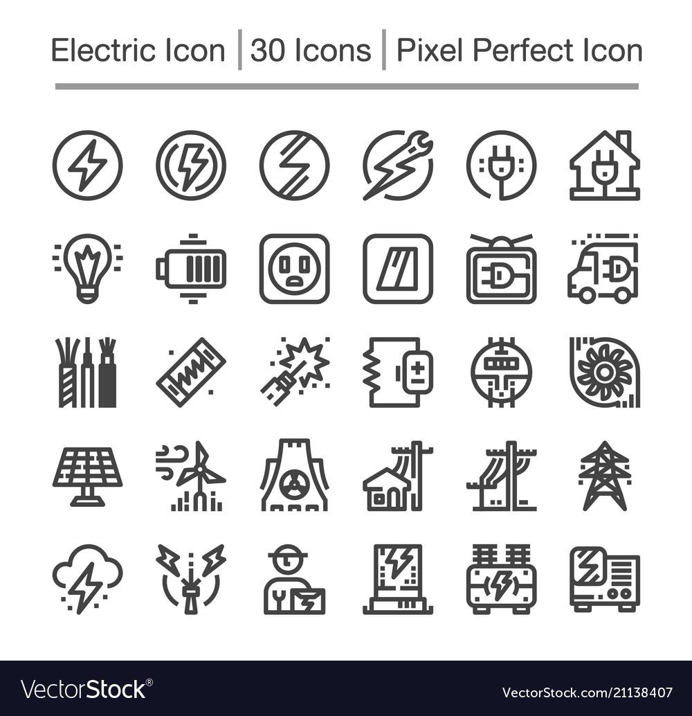 Electric line icon