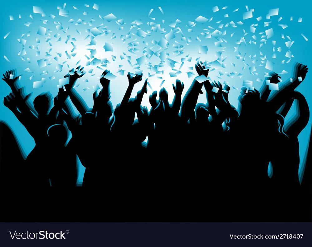 Festival crowd vector image