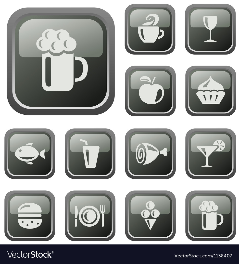 Food and drinks buttons