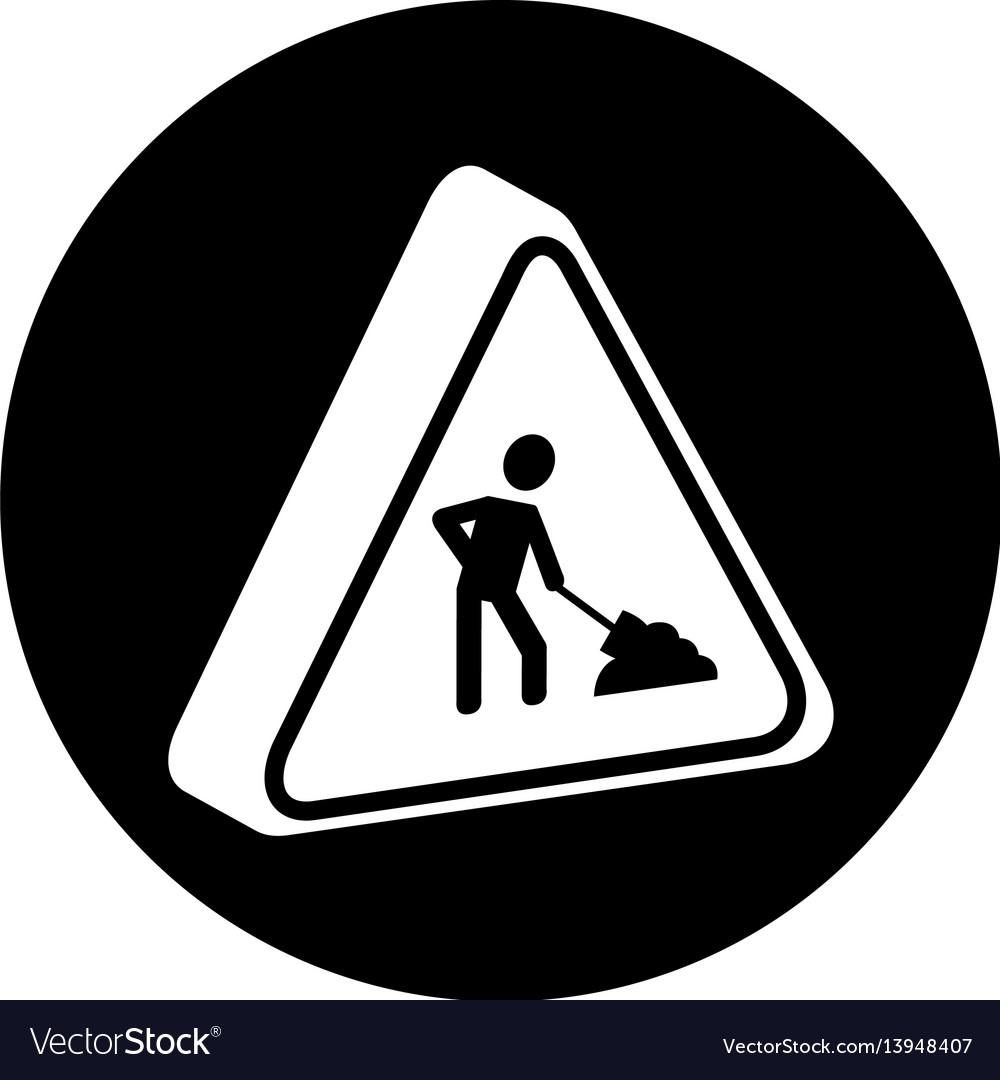 Triangle caution signal icon