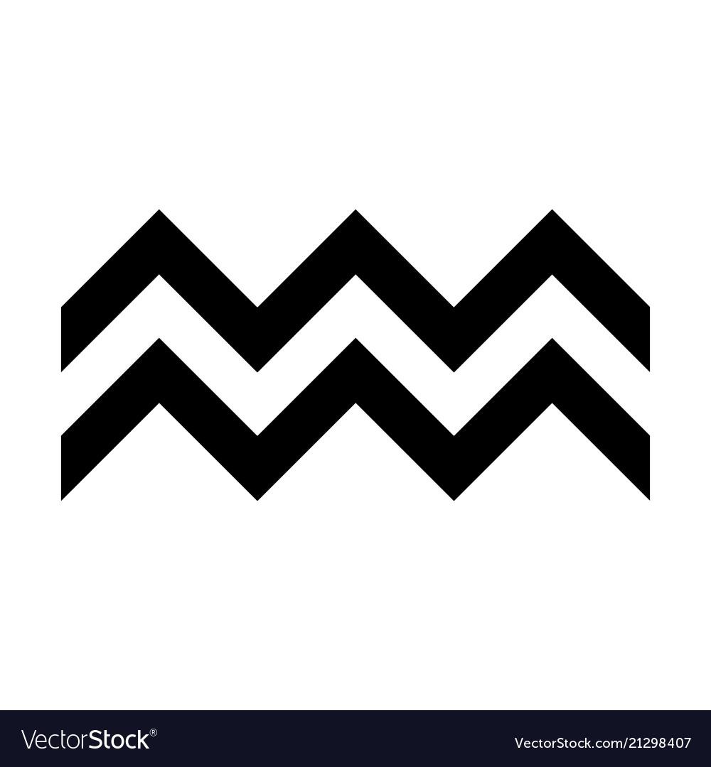 Zigzag symbol typical ...