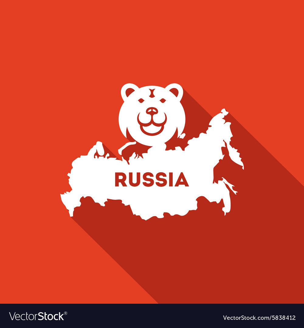 Bear The Symbol Of Russia Icon Royalty Free Vector Image