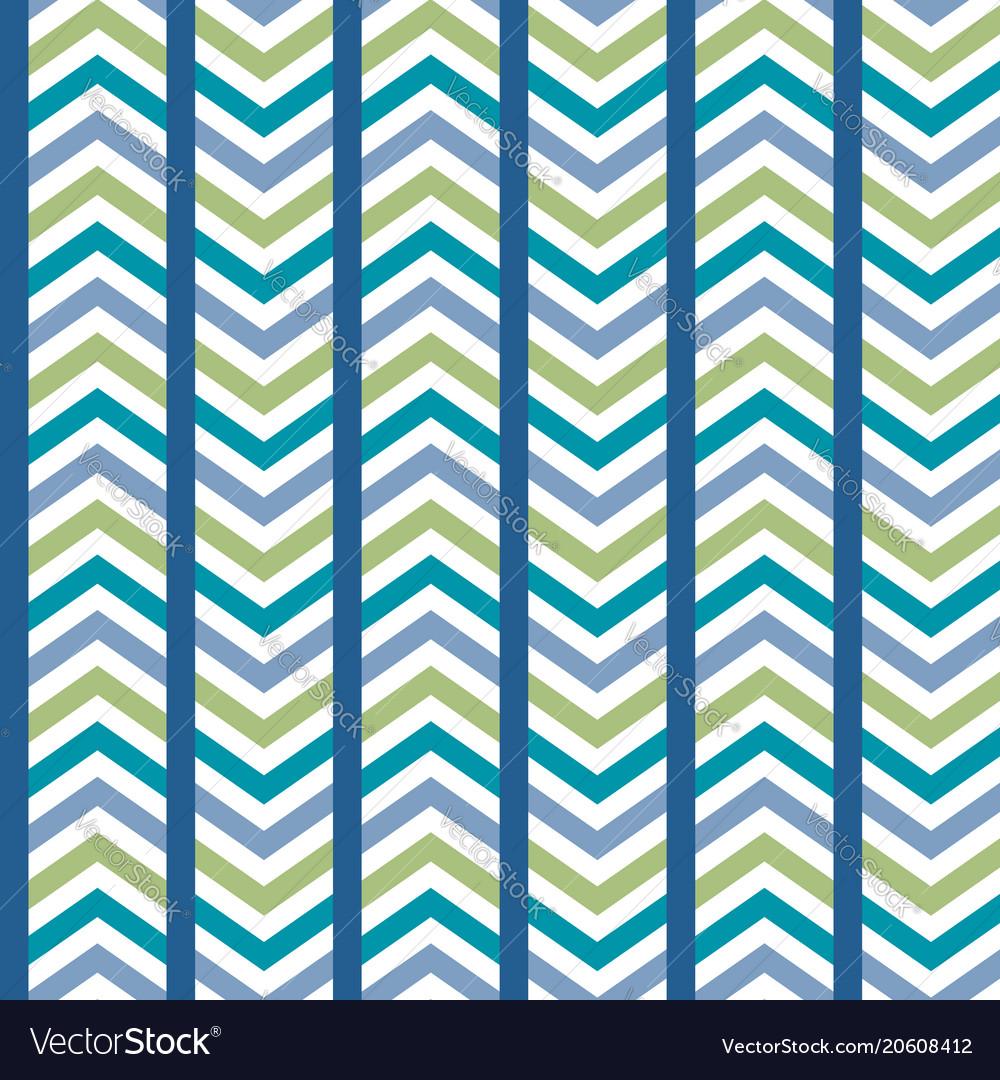 Blue green striped chevron seamless pattern