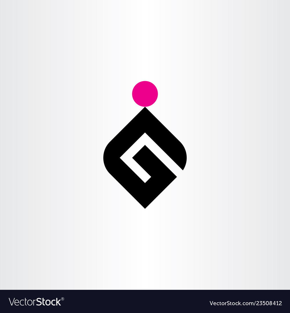 G letter logo black magenta icon symbol element