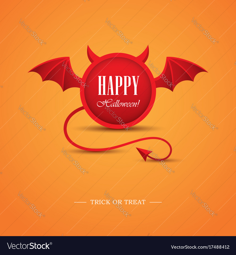 Halloween design template with devil