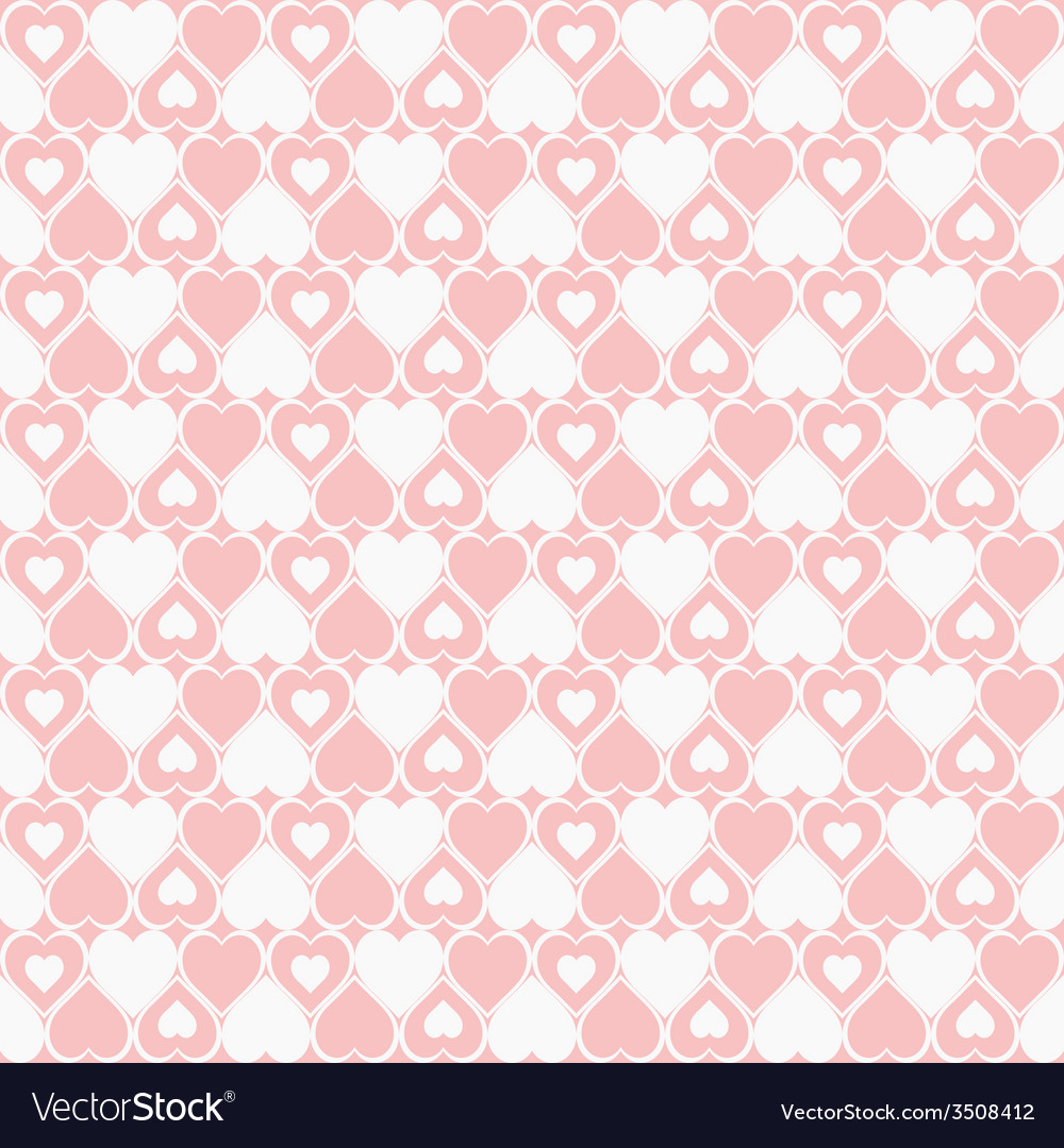 Seamless hearted patterns