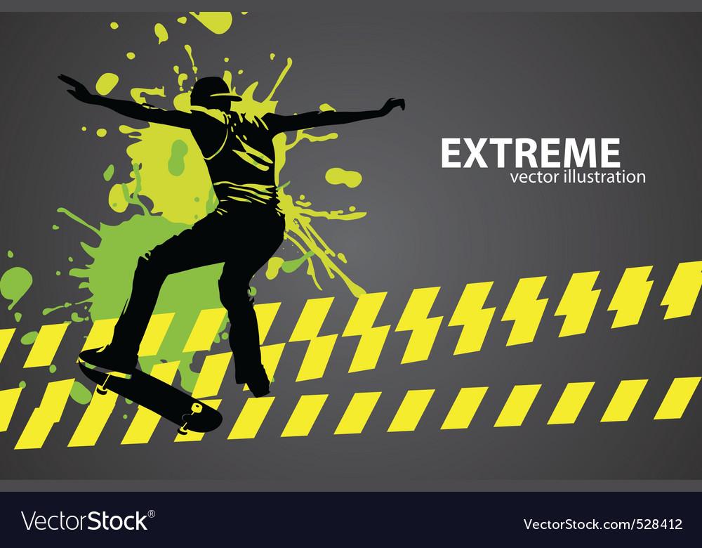 Skater vector image