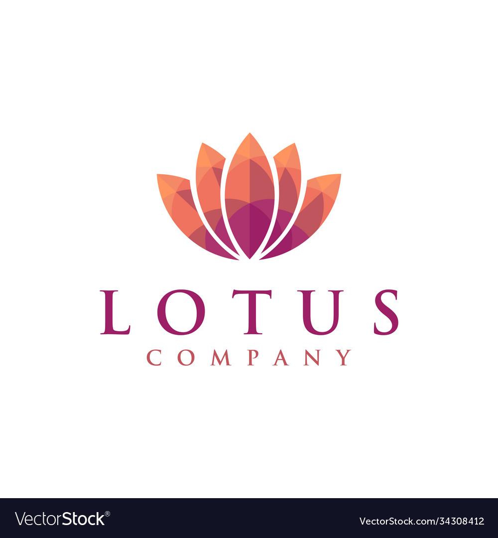 Warm colorful lotus logo icon