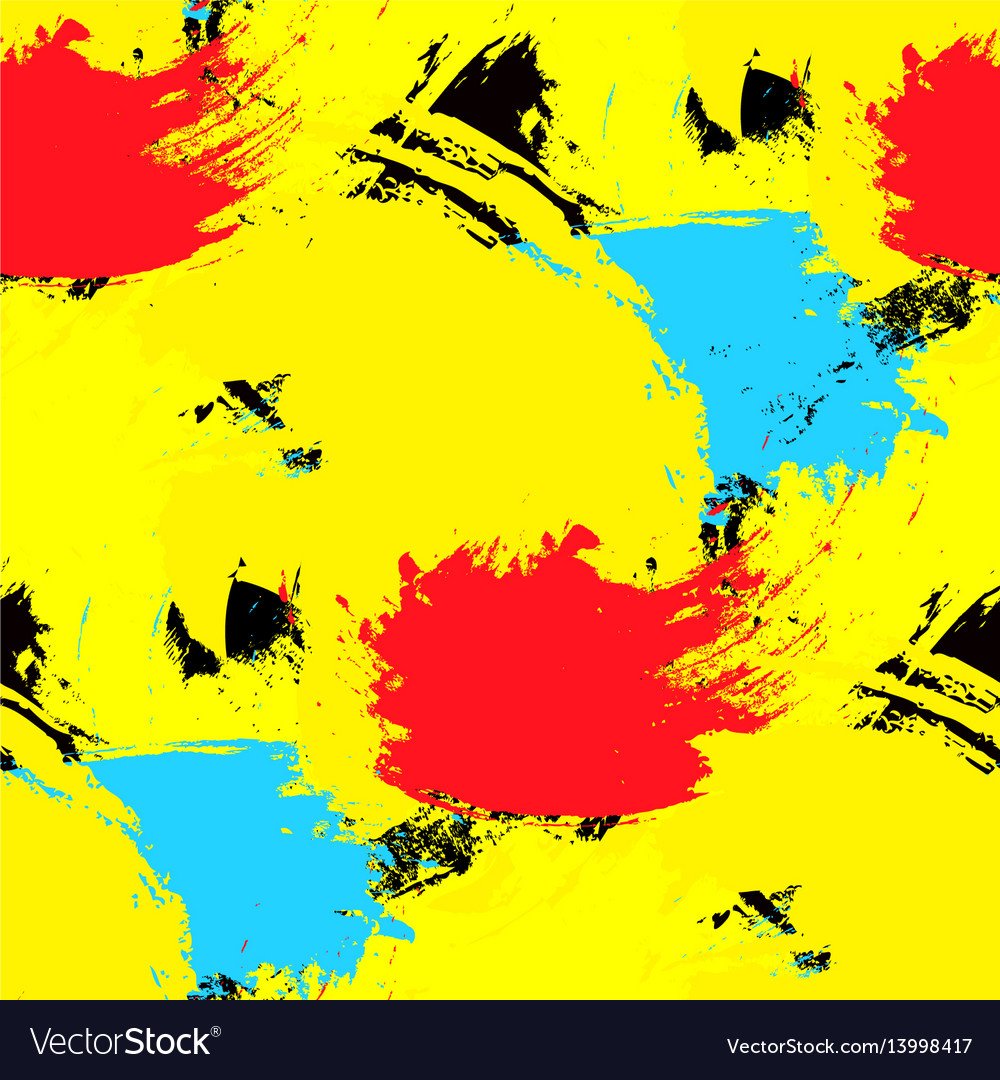 Brushstrokes seamless pattern bright colors