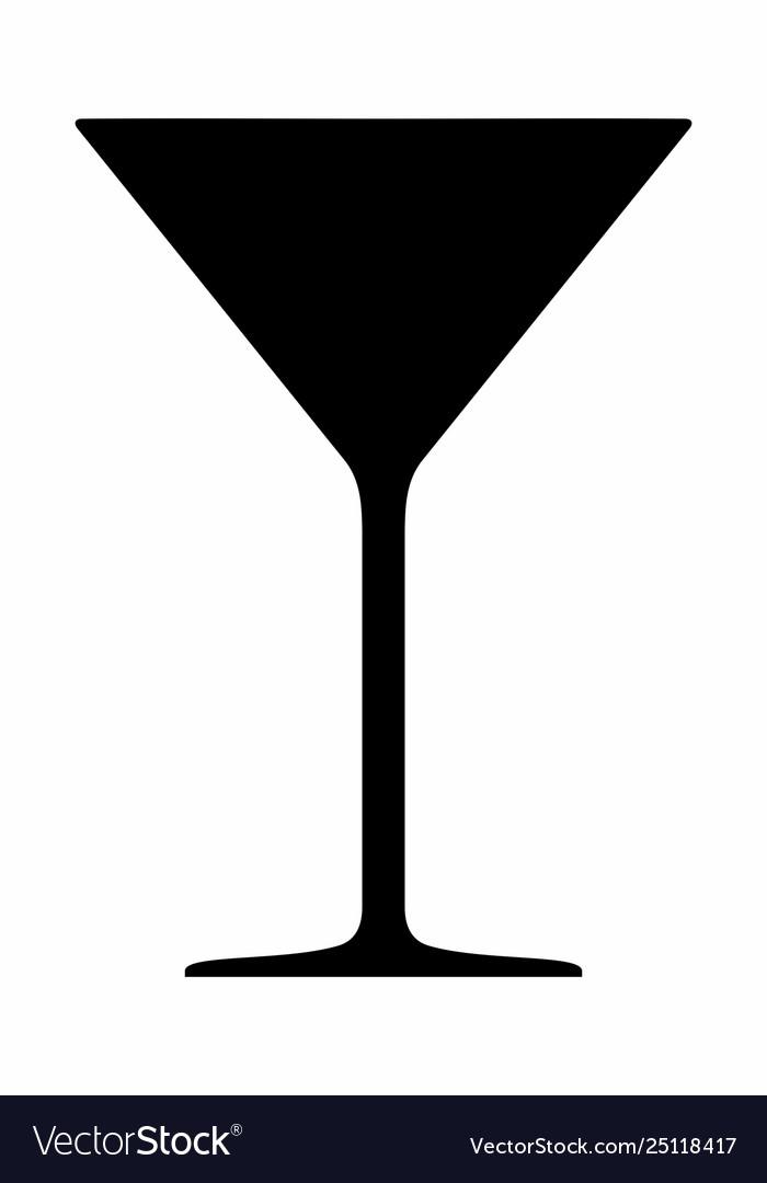 Cocktail glass dark silhouette