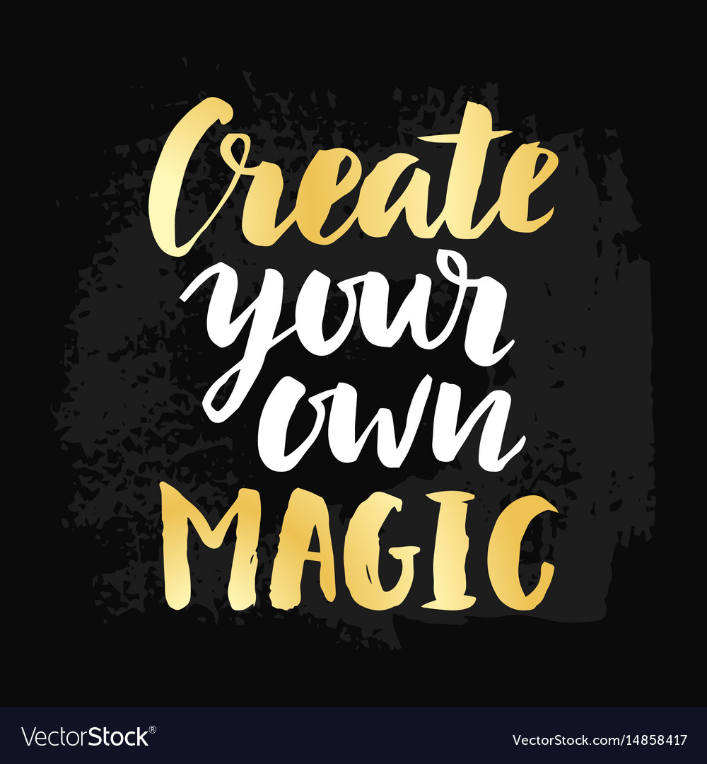 create your own magic poster royalty free vector image