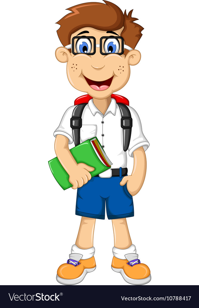 cute student cartoon go to school royalty free vector image clipart of school supplies clipart of school tools