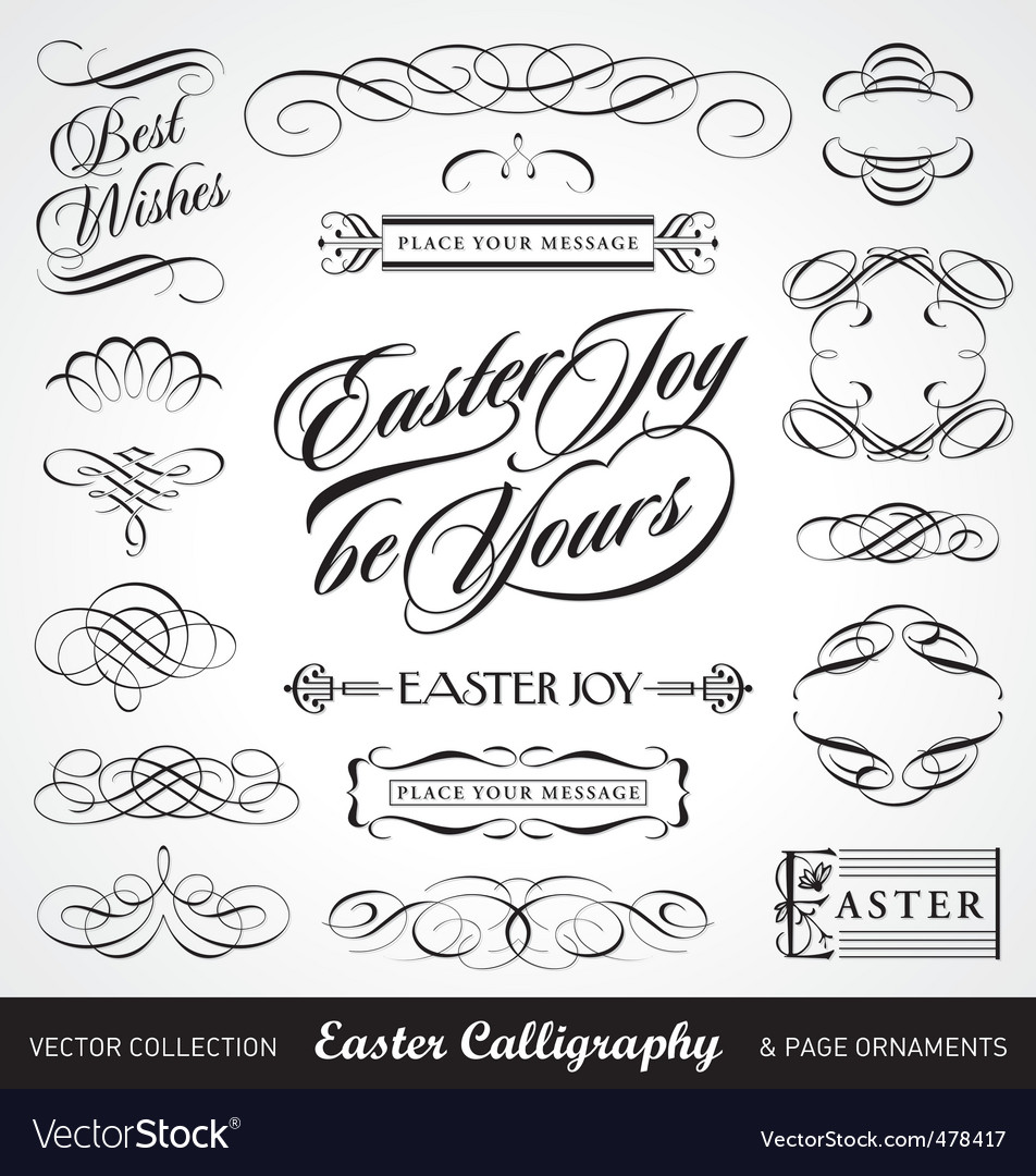 Easter calligraphy set