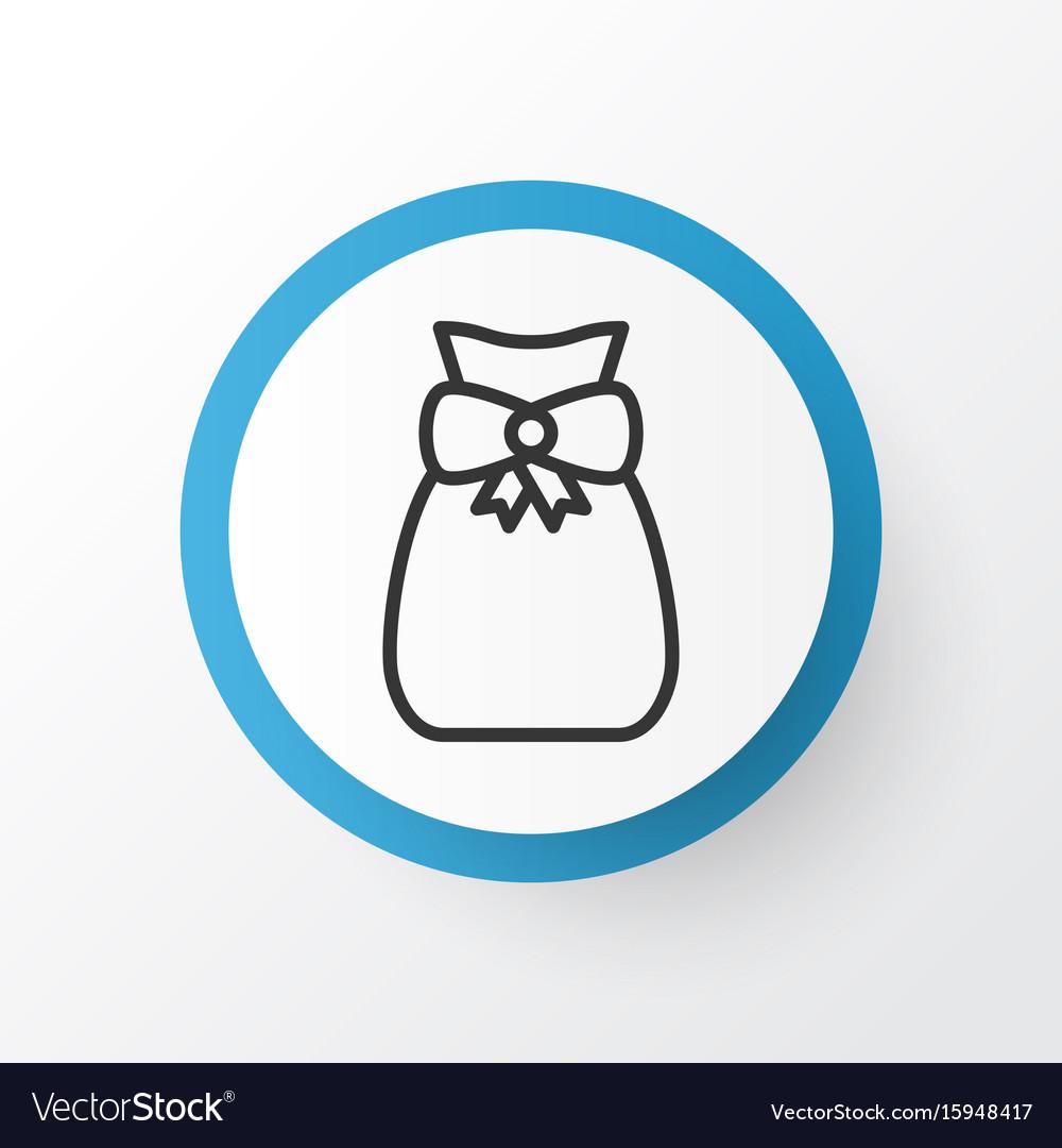 Gift sack icon symbol premium quality isolated