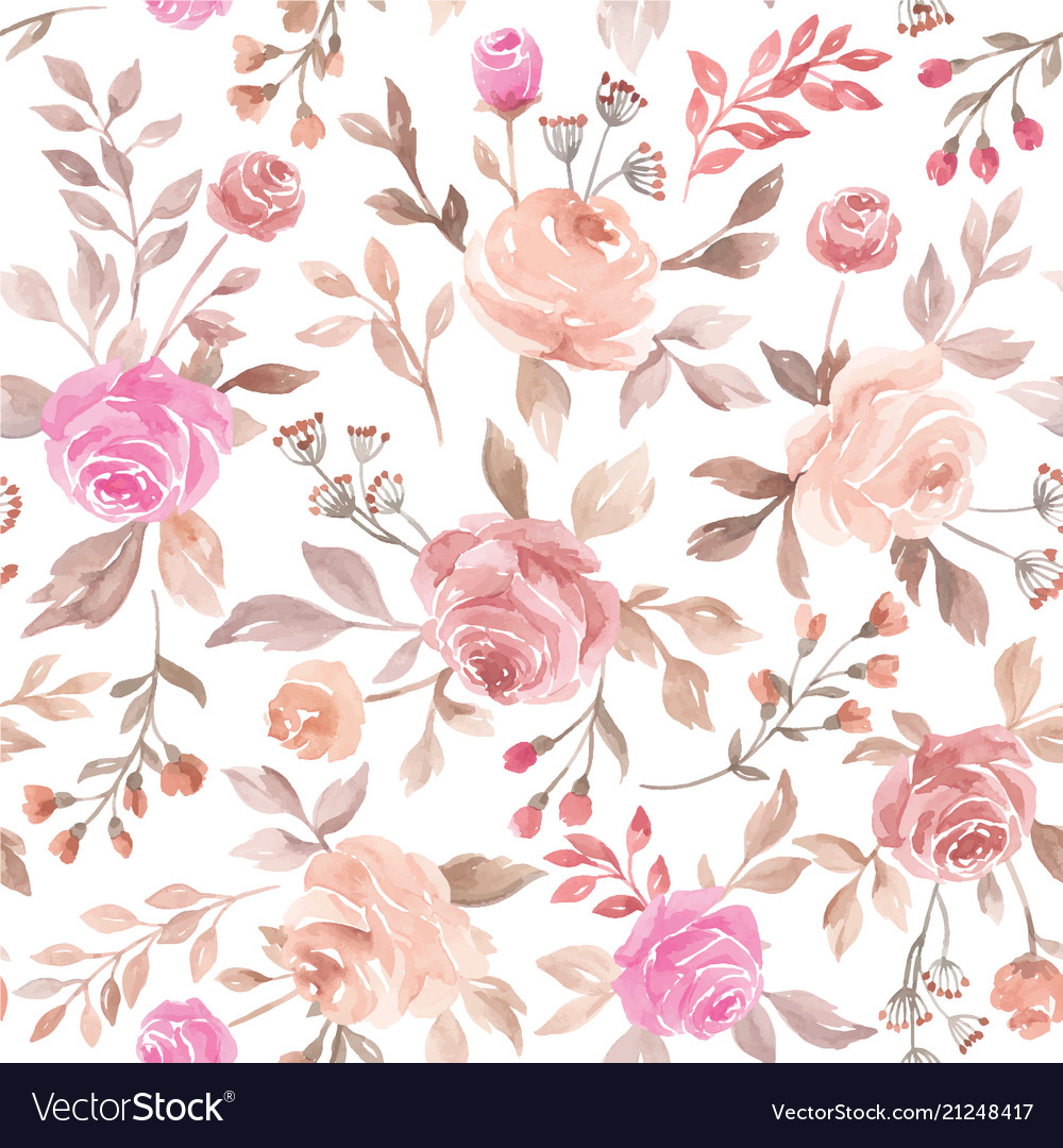Pastel seamless flower pattern backdrop background