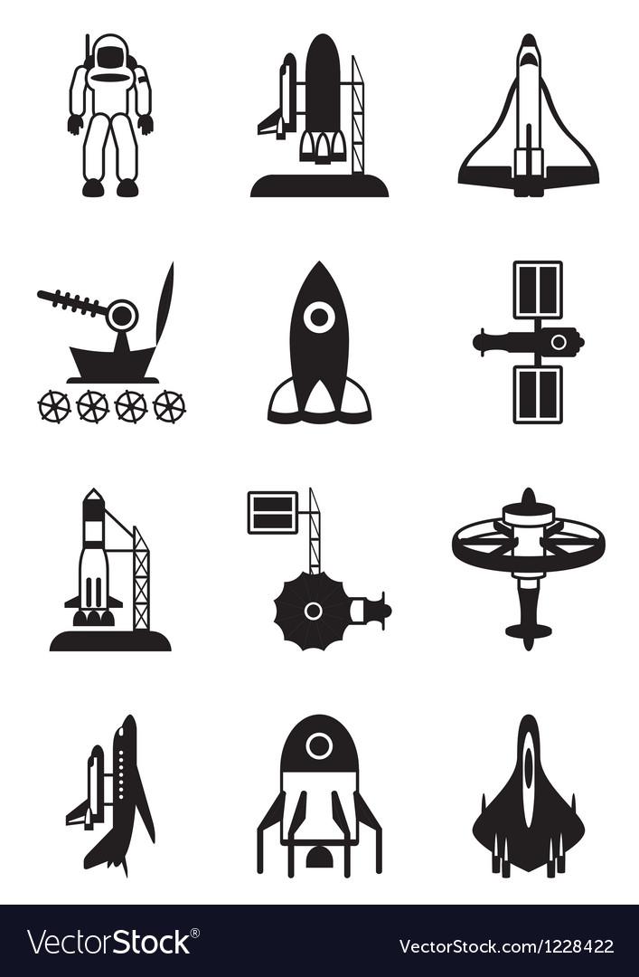 astronaut space shuttle and spaceship royalty free vector rh vectorstock com spaceship vector free download vector spaceship