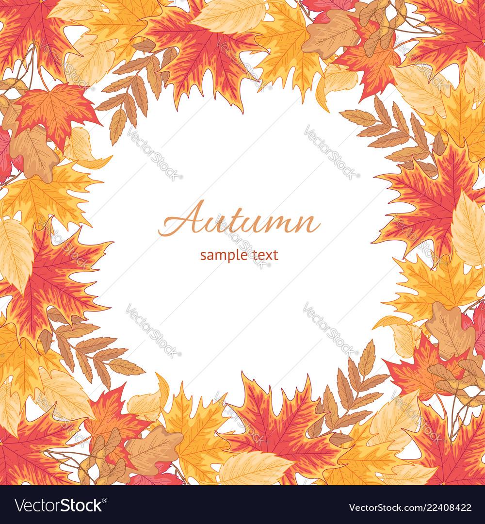 Autumn round frame