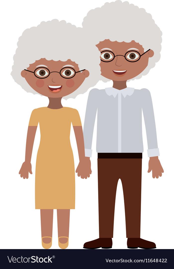 Couple of grandparents cartoon design