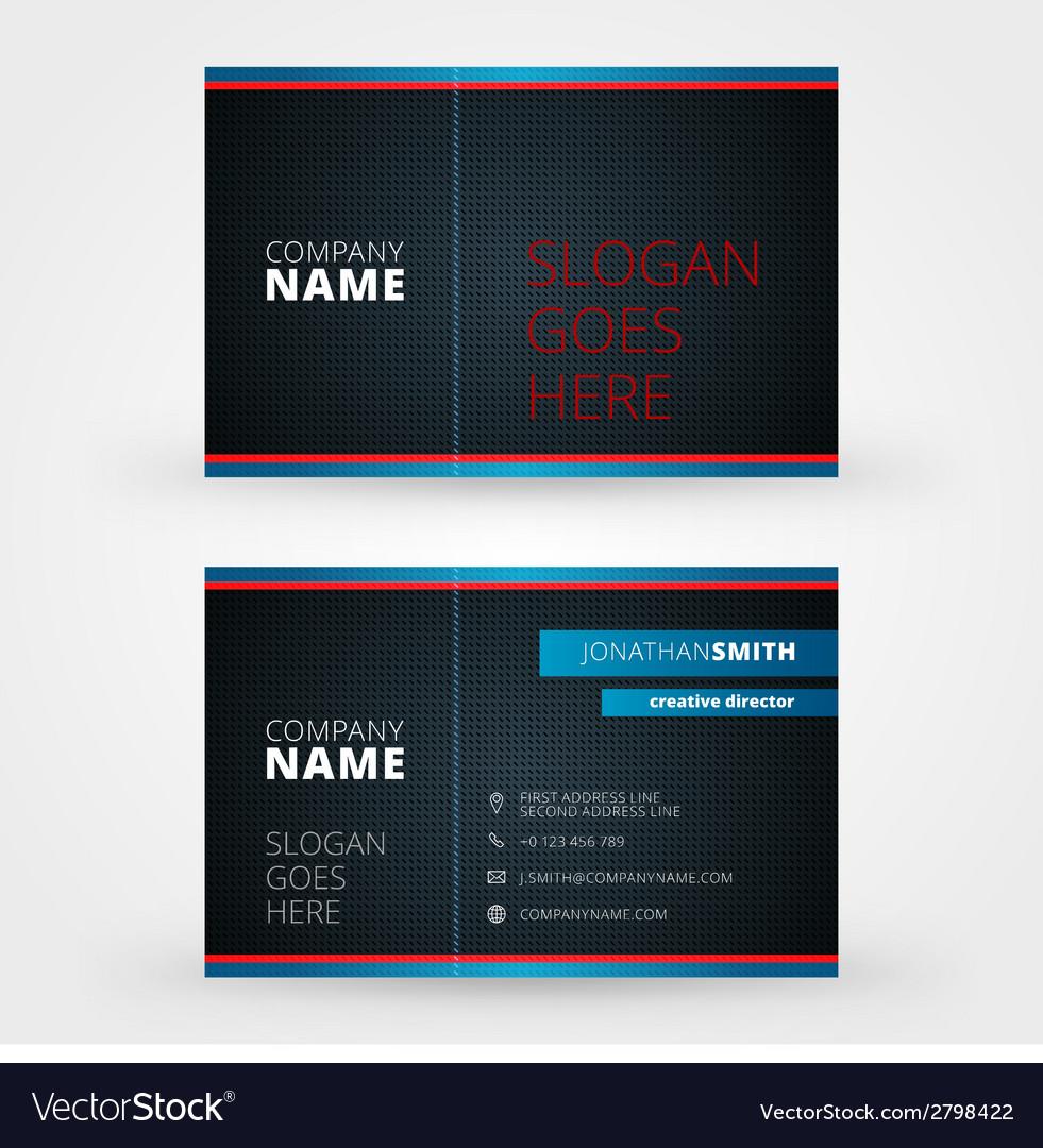 Creative business card design print template vector image colourmoves
