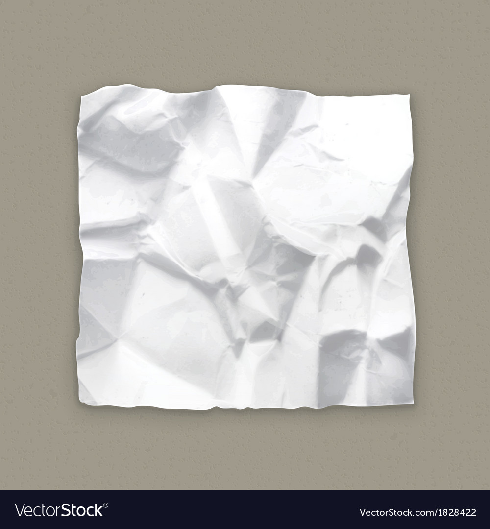 crumpled paper royalty free vector image vectorstock