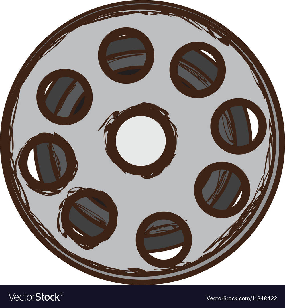 Film tape reel icon image vector image