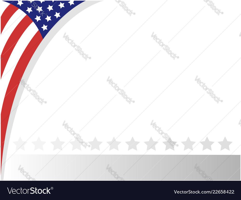 Usa abstract flag border