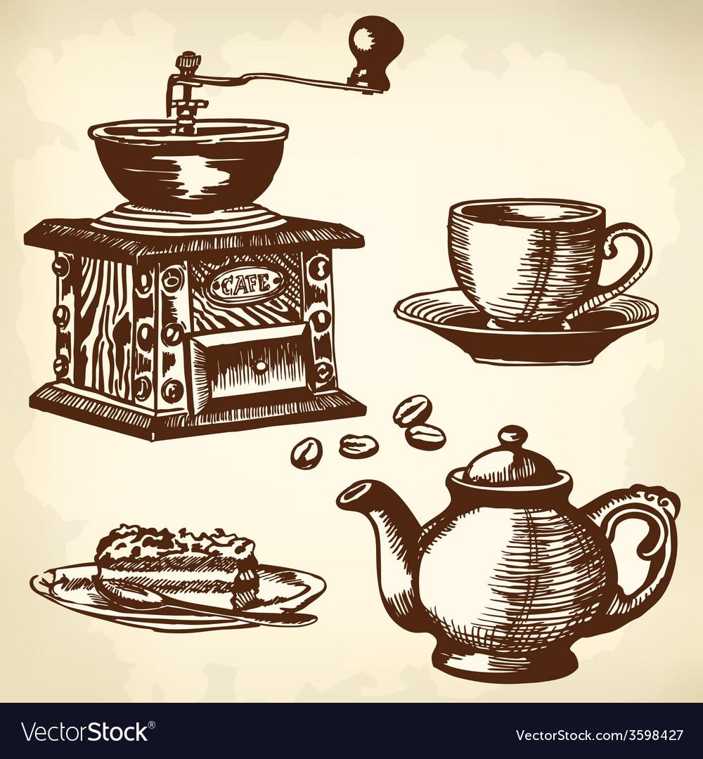 Caffe set vector image