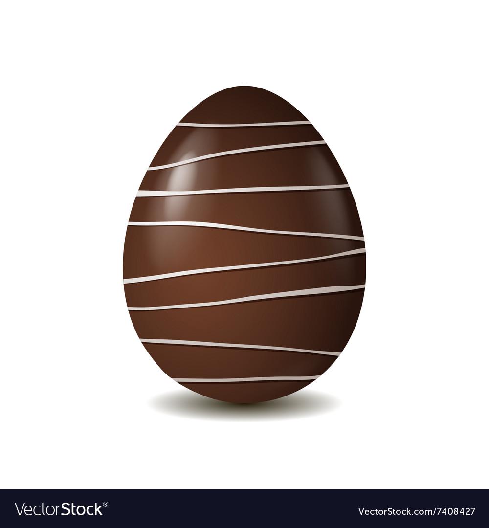 Chocolate egg isolated on white background