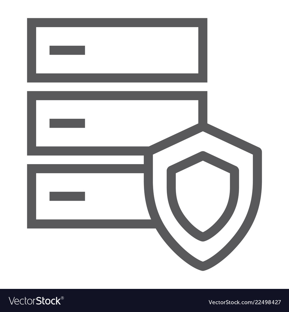 Database protection line icon server and security