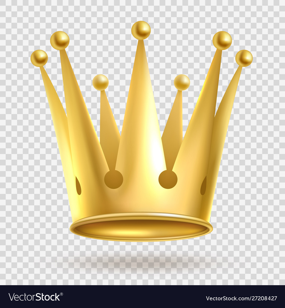 Golden crown elegant gold metal royal crowning on