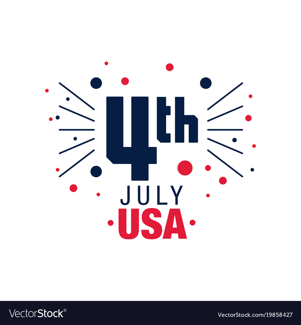 Happy 4th july original emblem american