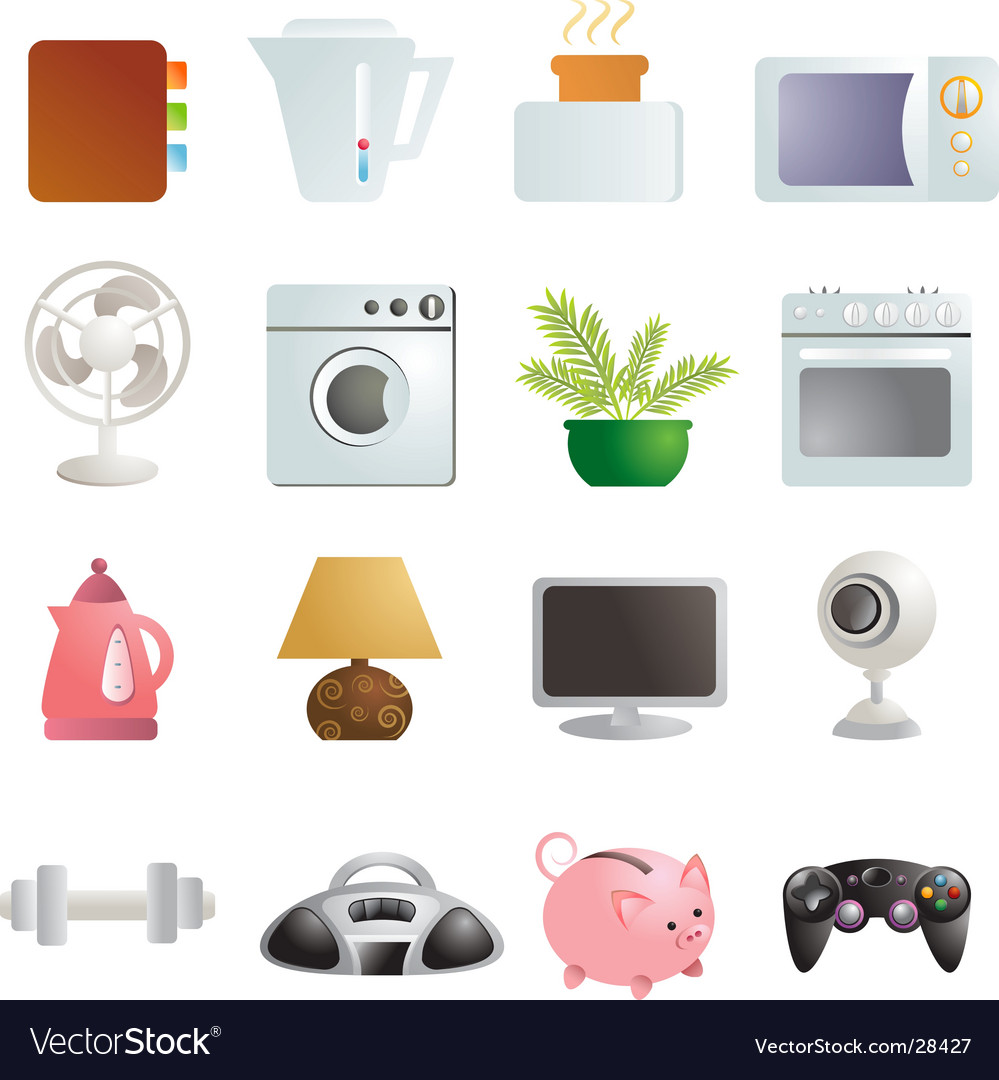 Objects vector image