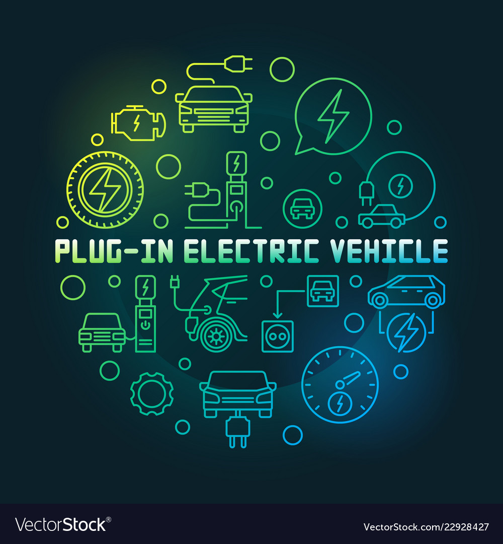 Plug-in electric vehicle circular colorful