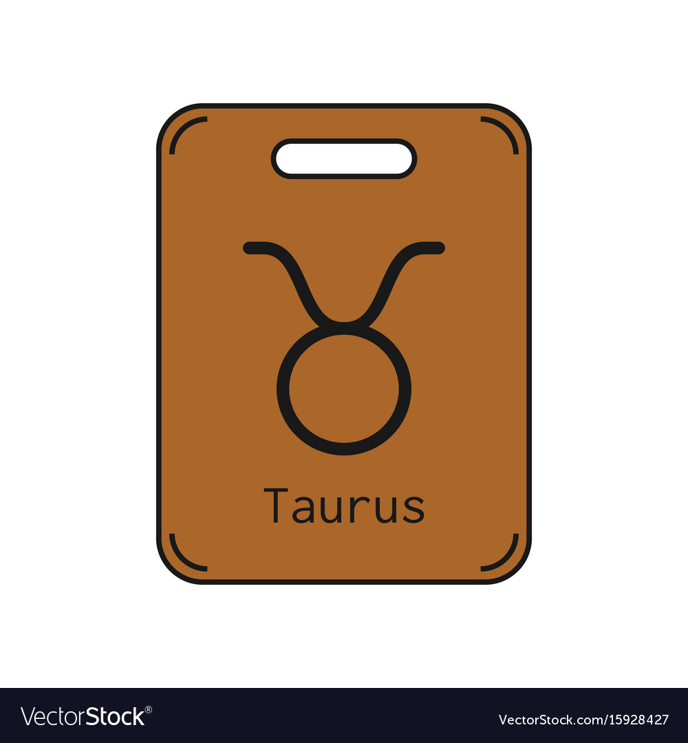 Taurus sign of the zodiac flat symbol horoscope