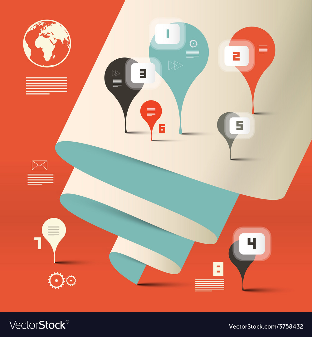 Abstract Paper Infographics Layout