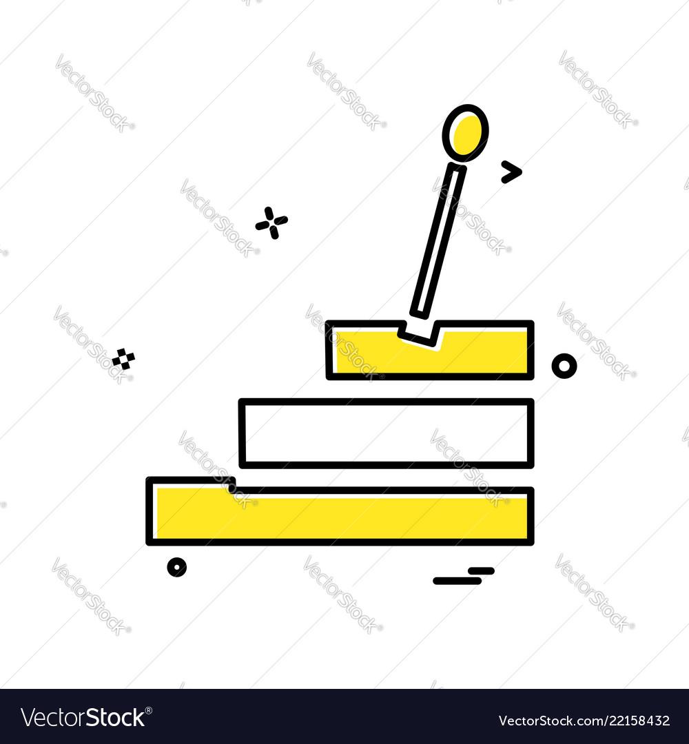 Car gear box icon design
