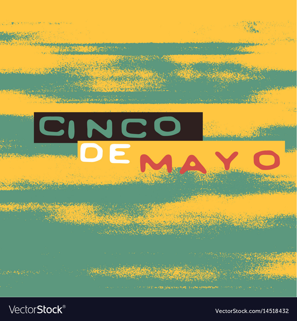 Cinco de mayo holiday poster template