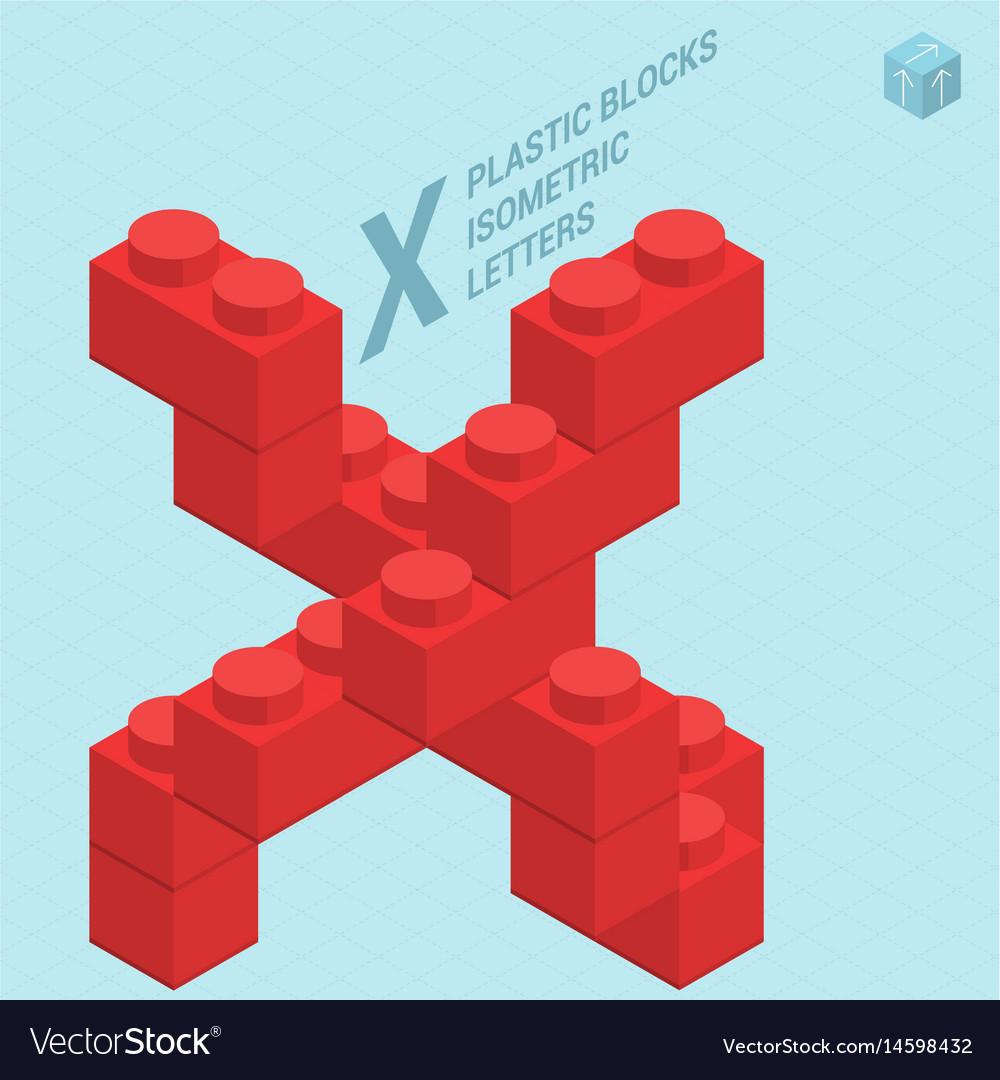 Plastic blocs letter x