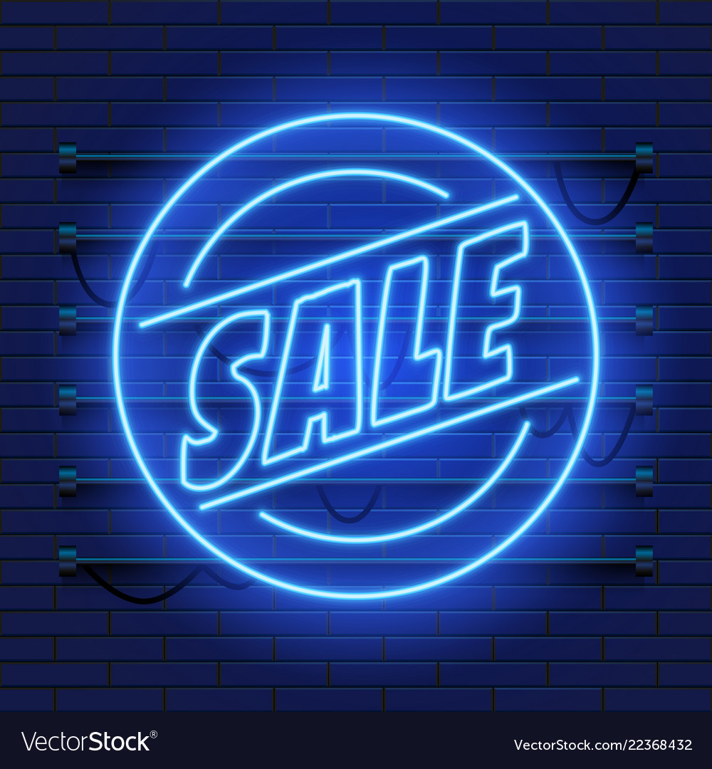 Retro sale neon sign las vegas concept