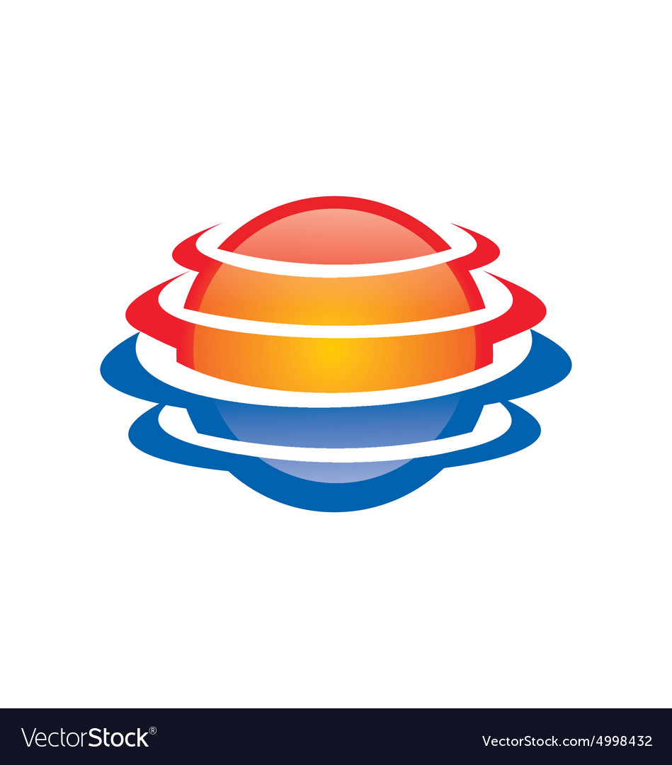 Space planet globe abstract logo