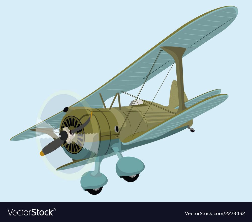 The old plane biplane