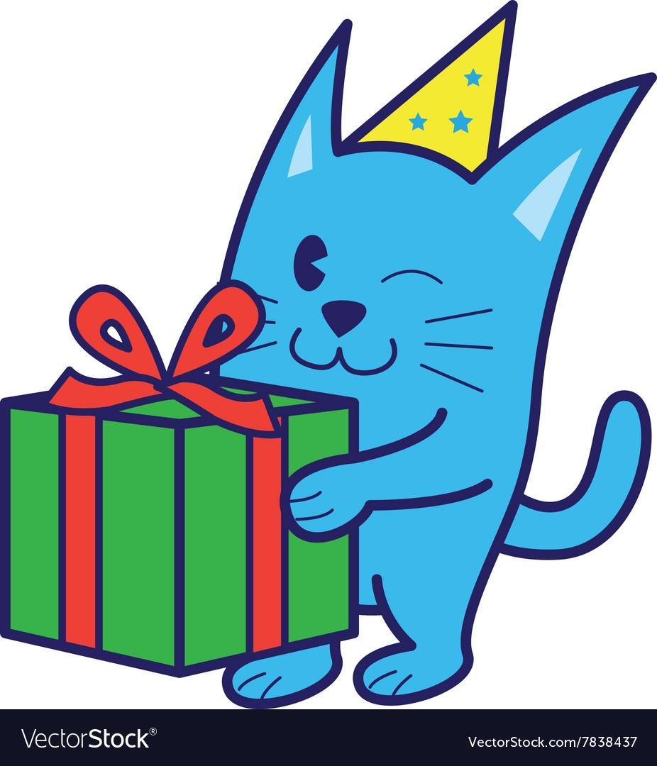 Cat Bring Gift