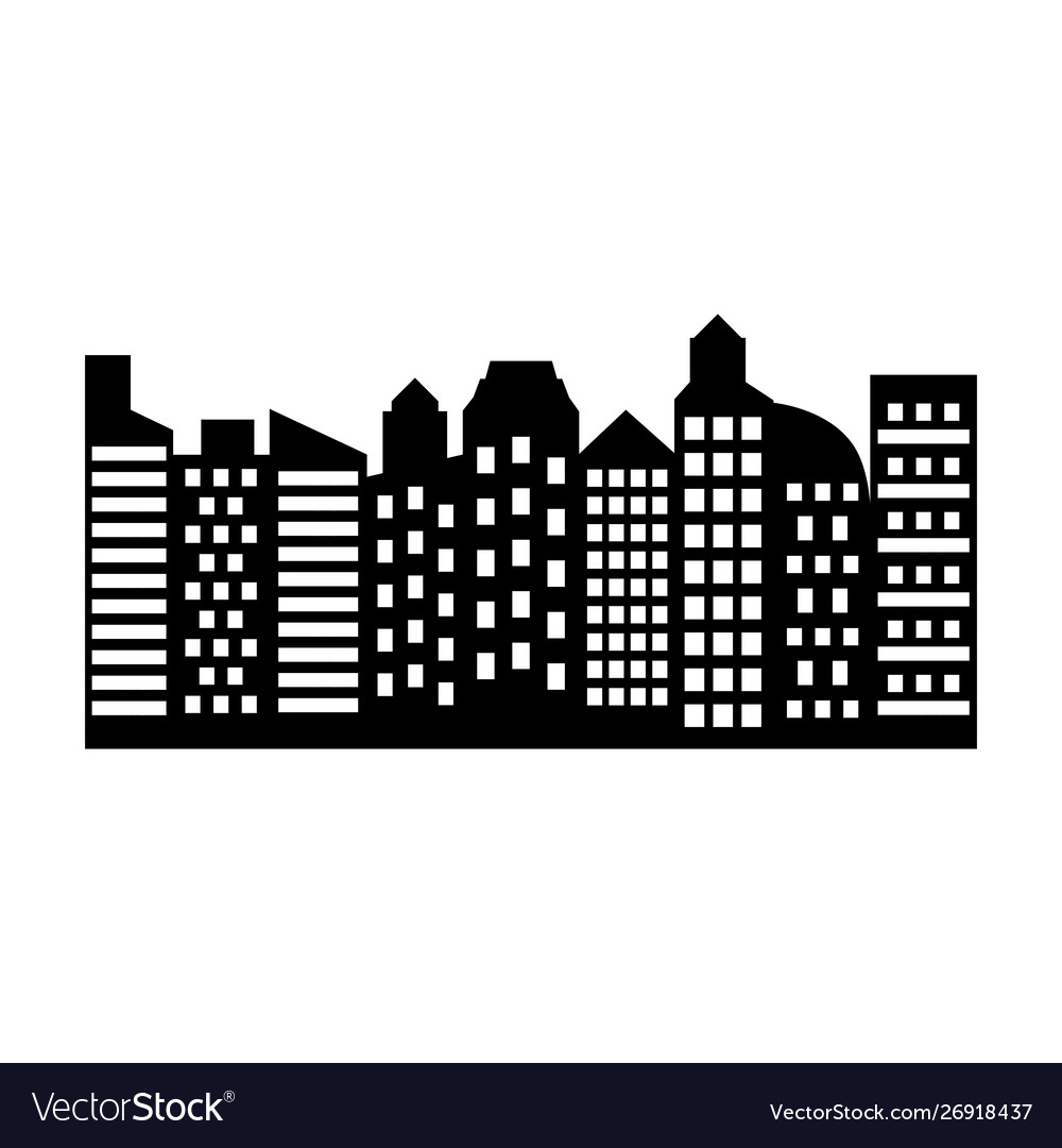 Isolated city design Royalty Free Vector Image