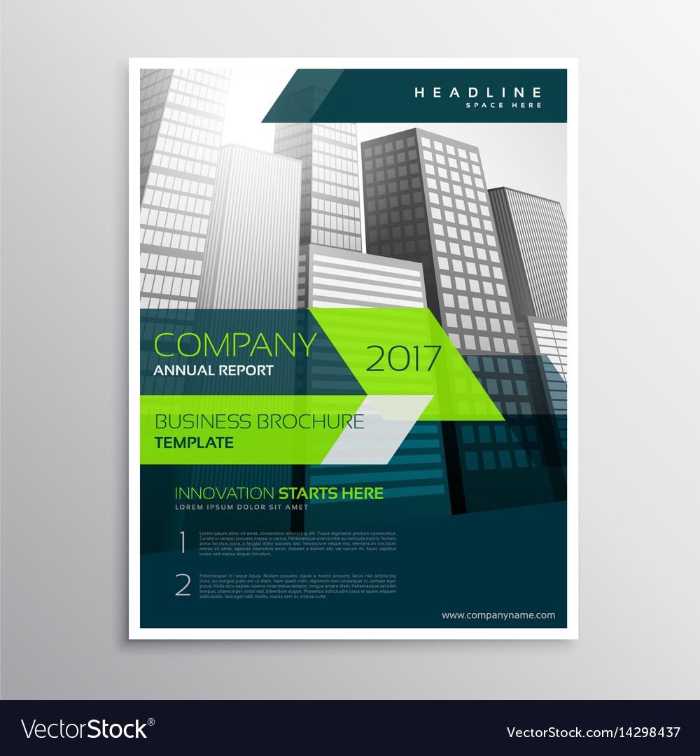 Modern Company Brochure Template Design Royalty Free Vector