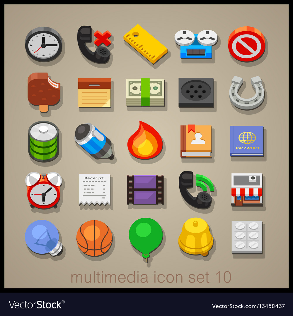 Multimedia icon set-10
