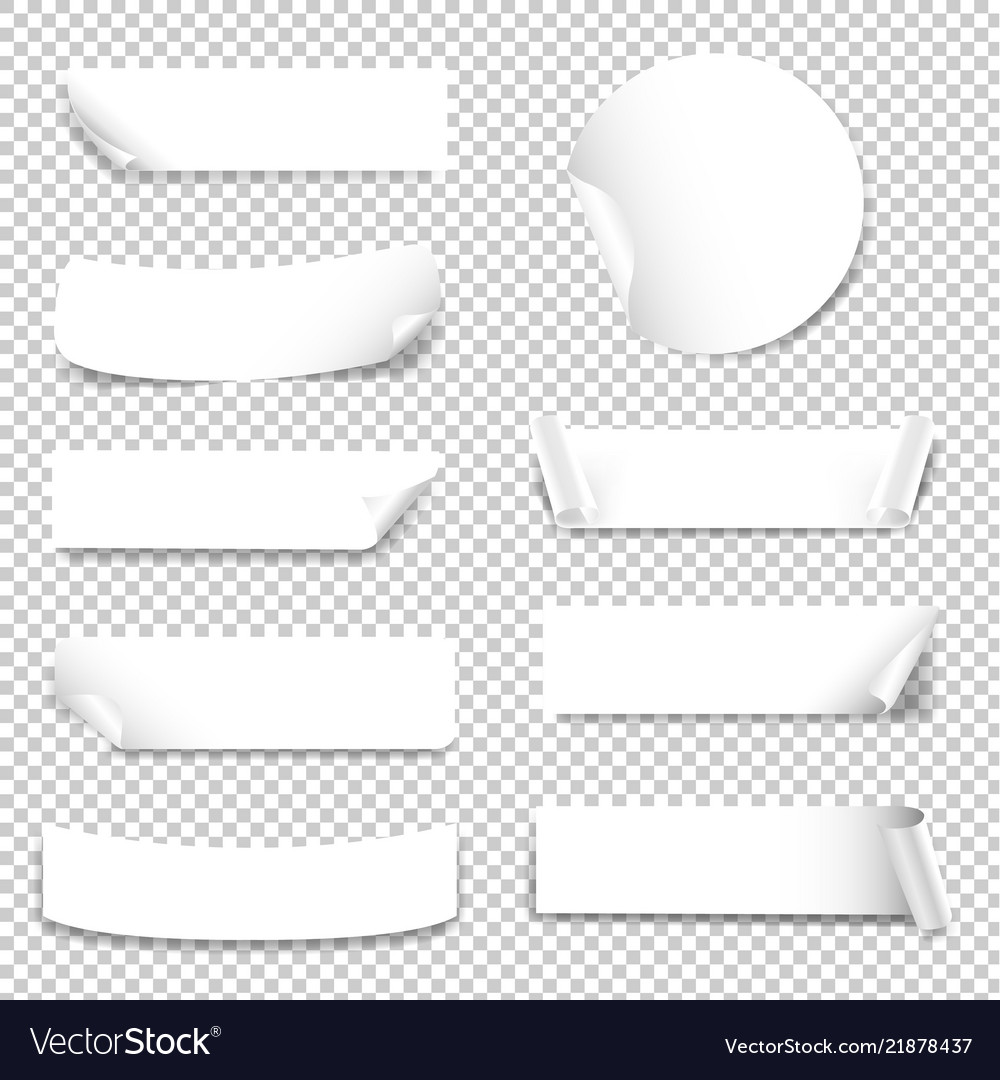 Paper label isolated transparent background